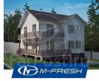 M-fresh Santa Monica Plus! (Готовый проект 2-этажного дома с цоколем! ). 300-400 кв. м., 2 этажа, 5 комнат, бетон
