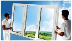 Пластиковые окна, двери, балконы, производство монтаж