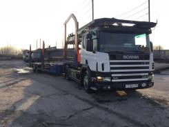 Scania P340. Продам Тягач с прицепом Eurolohrehr 121, 11 000 куб. см., 20 000 кг.