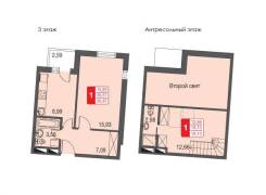 1-комнатная, улица Нагорная 2а. агентство, 36 кв.м.