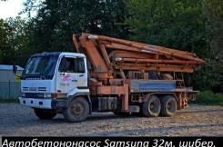 Samsung. Автобетононасос PX321S 1996г. в. Поршневой, шиберный. 32м., 16 950 куб. см., 32 м.