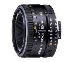 Объектив Nikon 50mm f/1.8D AF Nikkor. Для Nikon F, диаметр фильтра 52 мм