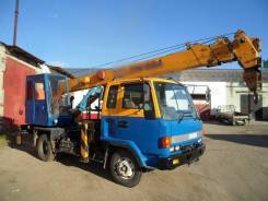 Isuzu Forward. Автокран , 7 127 куб. см., 5 000 кг., 21 м.