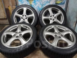 Продам Отличные Стильные колёса Subaru Legacy+Зима 215/45R17. 7.0x17 5x100.00 ET55