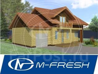 M-fresh Mellicano (Проект дома с мансардой и гаражом). 100-200 кв. м., 2 этажа, 4 комнаты, бетон
