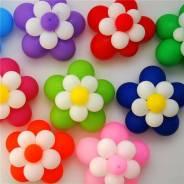 Цветы из воздушных шаров.