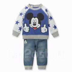 Костюм на мальчика: джинсы и кофта. Рост: 86-98 см