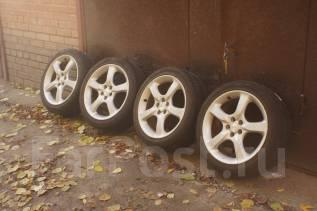 Литые диски Subaru Legacy BP5 + шины. 7.0x17 5x100.00 ET55