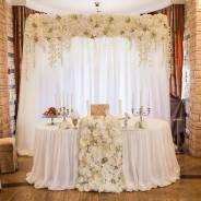 Оформление свадебного зала, президиума, автомобиля, фотозоны
