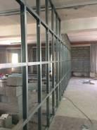 Монтаж стен и потолков из гипсокартона, вагонка , блоки, кирпич.