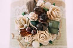 Свадебные свечи, бакалы, шкатулки, приглашения. Оформление.