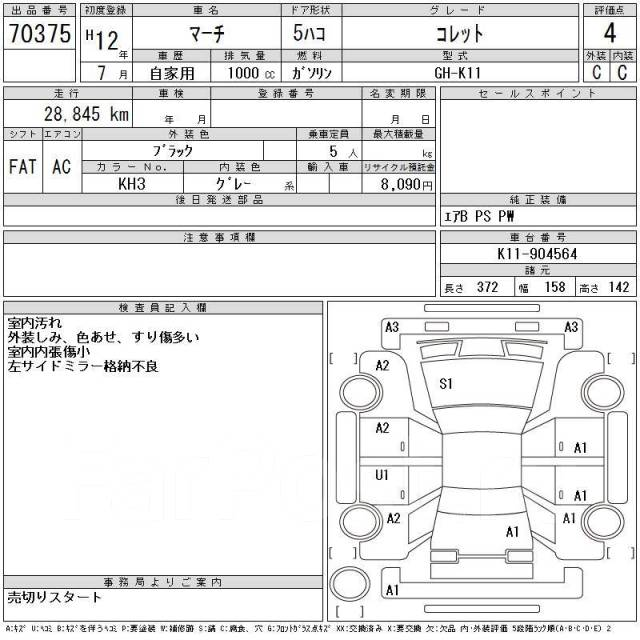 АКПП. Nissan Cube, ANZ10, AZ10, AK11 Nissan March, AK11 Двигатель CGA3DE
