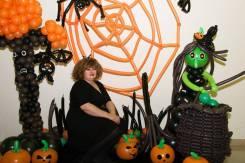 Шары на хеллоуин, оформления, фотозоны, подарки из шаров