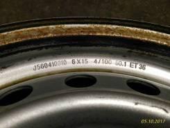 Renault. x15, 4x100.00, ET36, ЦО 60,1мм.