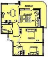 3-комнатная, улица Гаражная 150. ФМР, агентство, 96 кв.м.