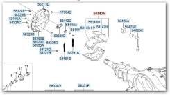Колодки тормозные Aero Town FR / GOLD FR / HD120 FR / 581406A000 / 581406A001 / 581406A003 / SA412