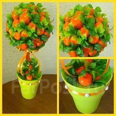 Топиарий из апельсинов