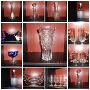 Стеклянные изделия, вазы, графины, фужеры, кружки. Акция длится до 28 февраля