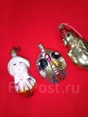 Ёлочные игрушки СССР Трио. Оригинал