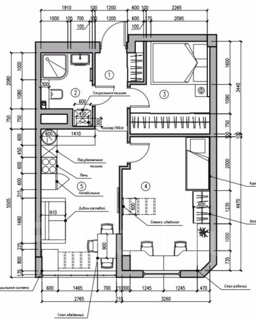 Планы, планировки, перепланировка, продуманное пространство за 300 р/м2