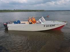 Казанка-2М. длина 5,50м., двигатель подвесной, 55,00л.с., бензин