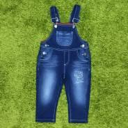 Комбинезоны джинсовые. Рост: 74-80, 86-92 см
