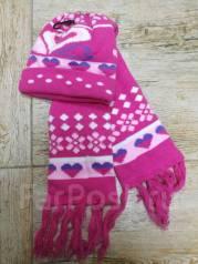 Шапка и шарф. Рост: 98-104, 104-110, 110-116 см