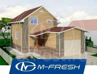M-fresh Avocado (Проект небольшого дома с гаражом. Во, как! ). 100-200 кв. м., 2 этажа, 3 комнаты, бетон