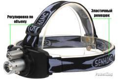 Тактический налобный фонарь. Двойной