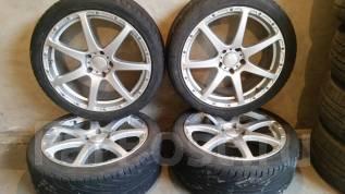 Продам комплект отличных шин с литьем R 18. 7.5x18 5x114.30 ET18