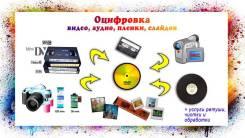 Оцифровка видео и аудио, фотоплёнок, слайдов, фото, обработка