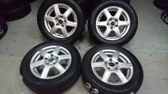 Продам отличный комплект колёс на японской летней резине 195/65R15!. 6.0x15 5x114.30 ET38 ЦО 73,0мм.