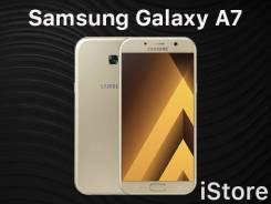 Samsung Galaxy A7 2017. Новый, 32 Гб, Желтый, Золотой