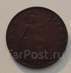 1 пенни. Великобритания 1927 года