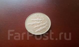 Исландия. 10 крон 1984 года. Рыбки. Мойва. Большая красивая монета!
