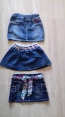 Юбки джинсовые. Рост: 80-86, 86-92, 92-98 см