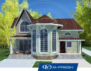 M-fresh Chill out progress (Проект современного дома с ярким эркером! ). 200-300 кв. м., 2 этажа, 4 комнаты, бетон