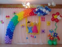 Оформление шарами выпусного в детском саду