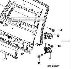 Крепление двери багажника. Honda CR-V, CBA-RD6, CBA-RD7, ABA-RD4, ABA-RD5, LA-RD4, LA-RD5