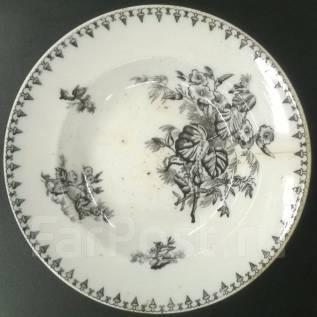 Глубокая тарелка Flora М. С. К. Редкое клеймо М. С. Кузнецова. до 1917 г. Оригинал. Под заказ