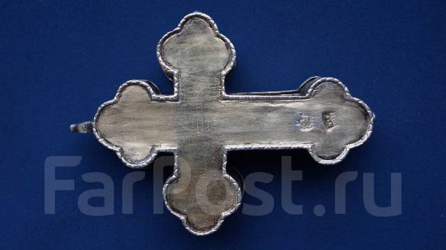 Старинный наперсный крест-реликварий со св. мощами. Москва. 1785 год. Оригинал