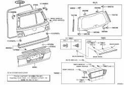 Уплотнитель двери багажника. Lexus LX570, URJ201W, URJ201 Toyota Land Cruiser, URJ202, URJ200, VDJ200, URJ202W, GRJ200, UZJ200, UZJ200W Двигатели: 3UR...