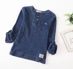 Рубашки джинсовые. Рост: 86-98, 98-104, 104-110, 110-116, 116-122, 122-128, 128-134 см
