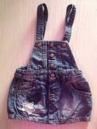 Сарафаны джинсовые. Рост: 68-74, 74-80 см