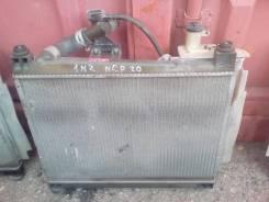 Радиатор охлаждения двигателя. Toyota Funcargo, NCP20 Двигатель 2NZFE
