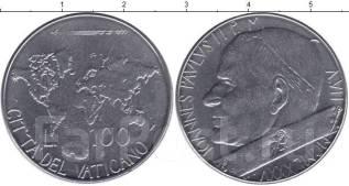 Ватикан 100 лир 1985 год UNC (иностранные монеты)