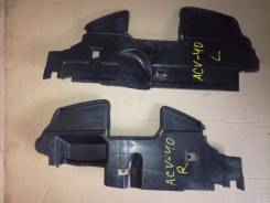 Дефлектор радиатора. Toyota Camry, ACV40, ACV45, AHV40, GSV40 Двигатели: 2AZFE, 2AZFXE, 2GRFE