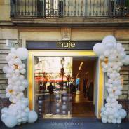 Оформление шарами входа в помещение для привлечения клиентов