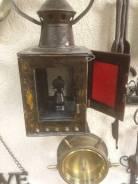Фонарь керосиновый железнодорожный старинный. Оригинал