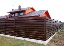 Фасады и заборы из дерева